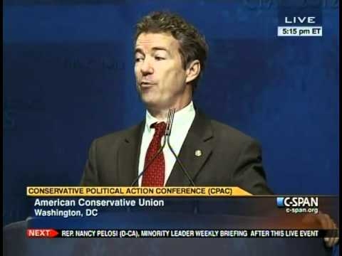 Rand Paul full speech at CPAC 2012