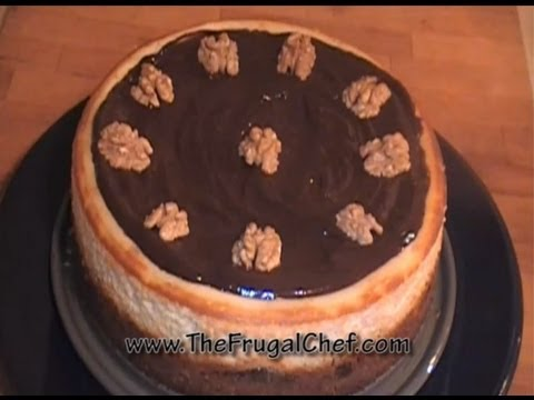 How to Make a Walnut Praline Cheesecake w/ Chocolate Ganache