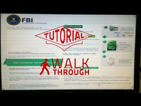 How To Remove FBI Virus Fine Moneypak On Windows 8 Voice Tutorial