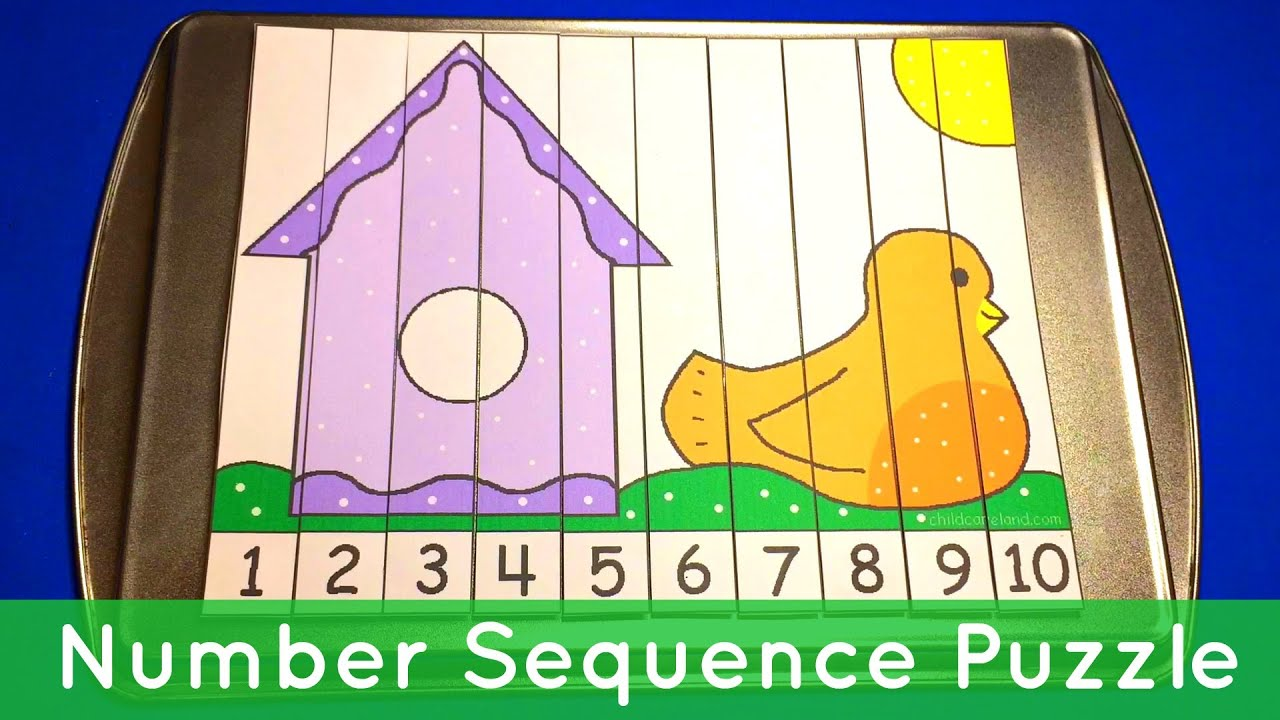 Birdhouse Number Sequence Puzzles - Preschool Math Activity - YouTube