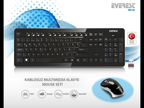 Everest KM-66 Siyah Kablosuz Q Multimedia Klavye (50 TL )