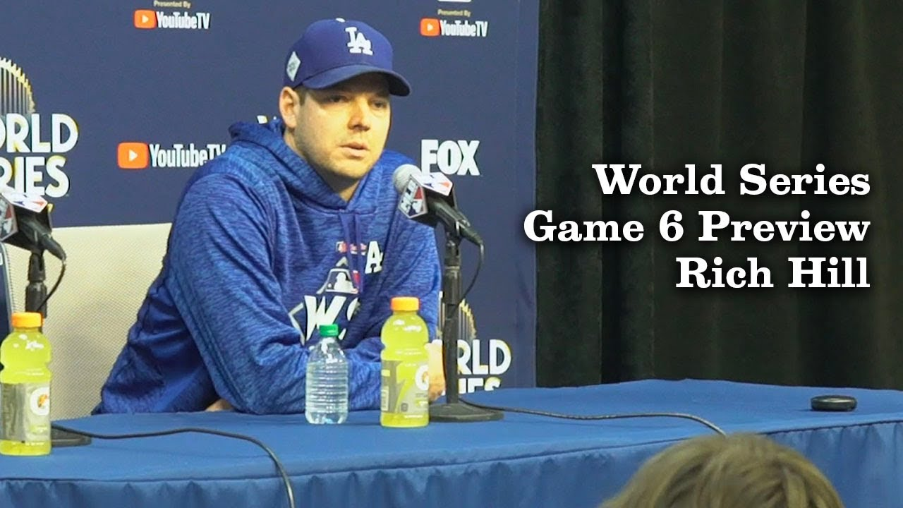 Rich Hill Talks About The Excitement Of Game 6 | Los Angeles Times