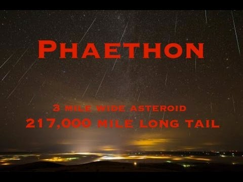 'Phaethon'!/Near Earth Asteroid w/TAIL causing meteor showers!