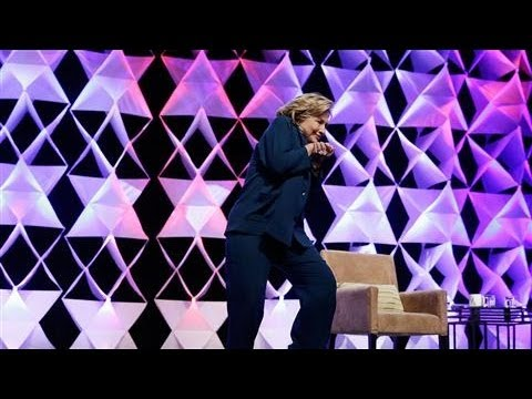 Woman Throws Shoe at Hillary Clinton During Speech