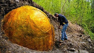 Villagers Uncover Giant Sphere In Woods That Leads Them To An Ancient Discovery