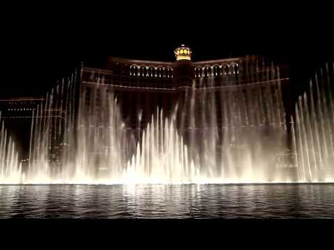 Bellagio Fountains - Pink Panther Theme - Hd - Canon 5d Mark Ii video