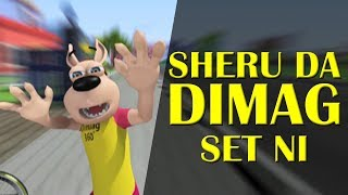 Sheru Da Dimag Set Ni || Happy Sheru || Funny Cartoon Animation || MH One