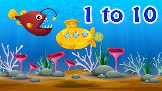 Submarine Cartoon – Underwater Counting