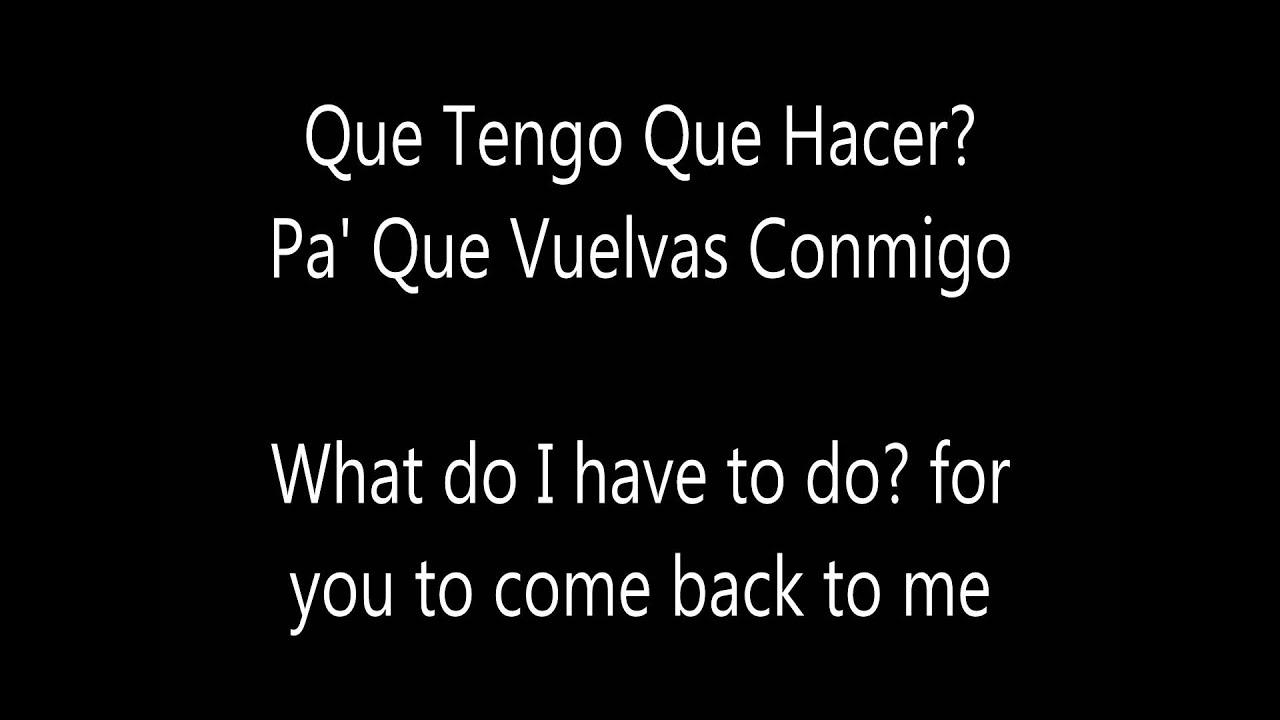 Daddy Yankee - Que Tengo Que Hacer Lyrics | MetroLyrics