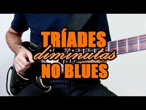 Tríades diminutas em bases de blues - ex.2 - Milton Medusa