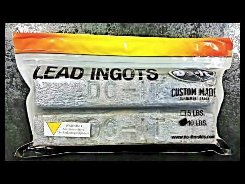 Lead Ingots from Do-It Molds