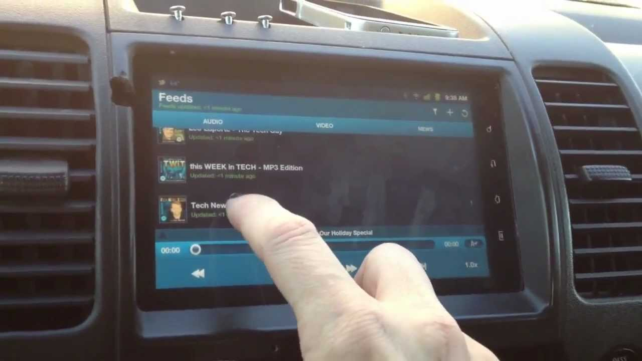 My Android Car Stereo Using A Tablet Youtube