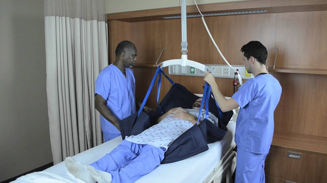 Transfer To Head Of Bed Repositioning Sling And Ceiling