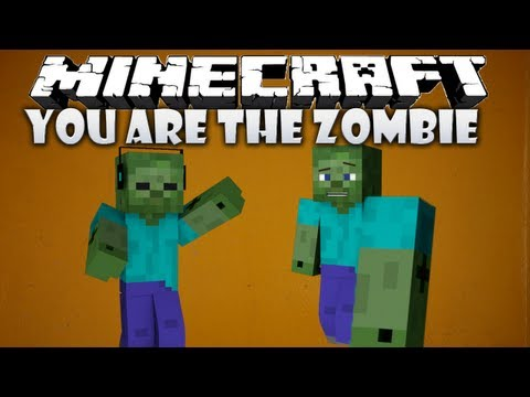 Minecraft: YOU ARE THE ZOMBIE MOD! (Minecraft 1.4.5 mod showcase)