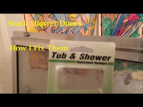 Stuck Shower Doors - How I Fix Them