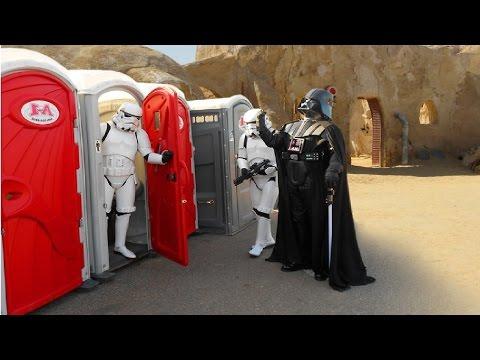 Toilet 2016 STAR WARS PRANK !!  Stormtroopers attack !