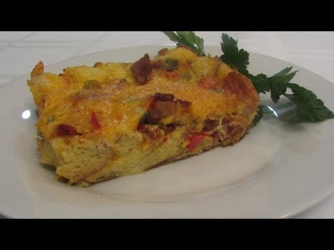 Bacon & Cheddar Strata -- Lynn's Recipes Easter Brunch