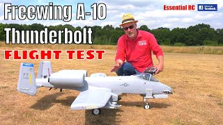 Freewing A-10 THUNDERBOLT II Super Scale Twin 80mm EDF Jet PNP: ESSENTIAL RC FLIGHT TEST (Motion RC)