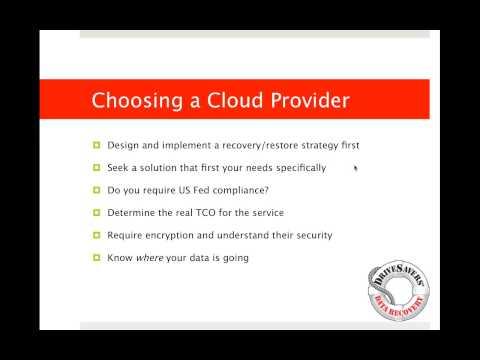 DriveSavers Webinar: Big Data the Cloud and You