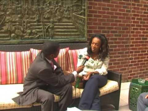 """Cendrine sassou Nguesso """"une perle qui monte"""" se confie au micro de GI dans une interview a coeur ouvert a washington dc."""