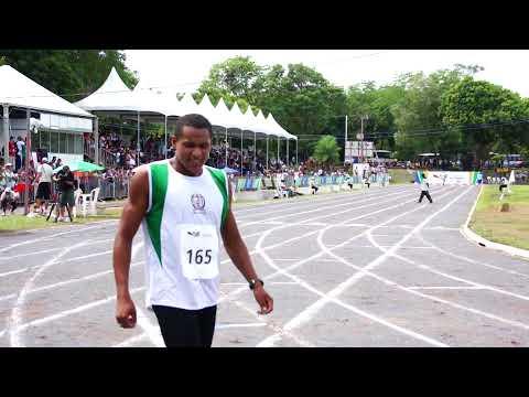Conquista do bronze no 100 metros rasos pelo tocantinense velocista Weider dos Santos