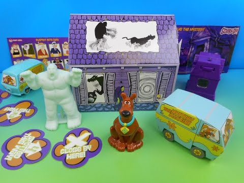 2014 SCOOBY DOO SET OF 5 WENDY'S KID'S MEAL TOY'S VIDEO REVIEW