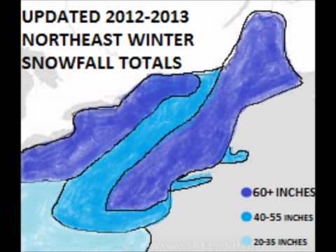Updated 2012-2013 Northeast Winter Snowfall Totals
