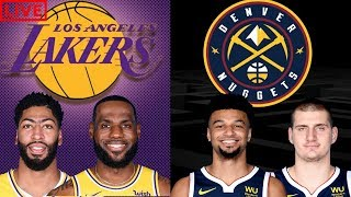 NBA STREAM: Los Angeles Lakers Vs Denver Nuggets  |Live Play By Play & Reactions