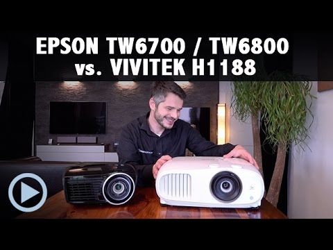 EPSON TW6700 / 6800 vs. VIVITEK H1188 Black Thunder Test