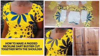 HOW TO CUT AND SEW A PADDED BUSTIER (BREAST TUBE)