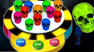 NEW Learn Colors With Surprise Dancing Balls with Spooky Skeletons On Finger Family Song by KidsCamp