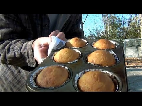 Off Grid Bread Baking on a Rocket Stove in Butterfly Camping Oven