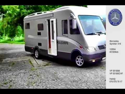 mercedes benz sprinter 316 cdi 3 5t wohnmobil camper gfk. Black Bedroom Furniture Sets. Home Design Ideas