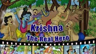 Little Krishna Illustrated Story - Krishna...The Real Hero