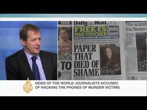 Alastair Campbell discusses News International scandal