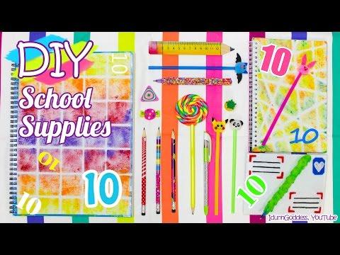 10 DIY School Supplies – Easy Back To School DIY Projects