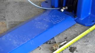 TP9KAF 9,000lb Auto Lift with Floorplate Design. Installation overview 7