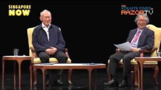 李光耀和国立大学学生对话