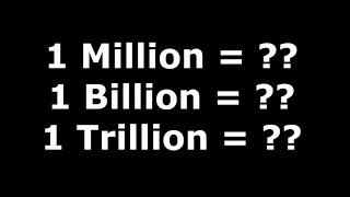 90% People Don't Know About This - MIllion, Billion, Trillion - Watch Video - Must Watch
