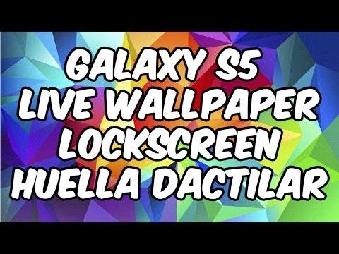 Instalar Live Wallpaper Galaxy S5 y LockScreen Huella Dactilar para Android