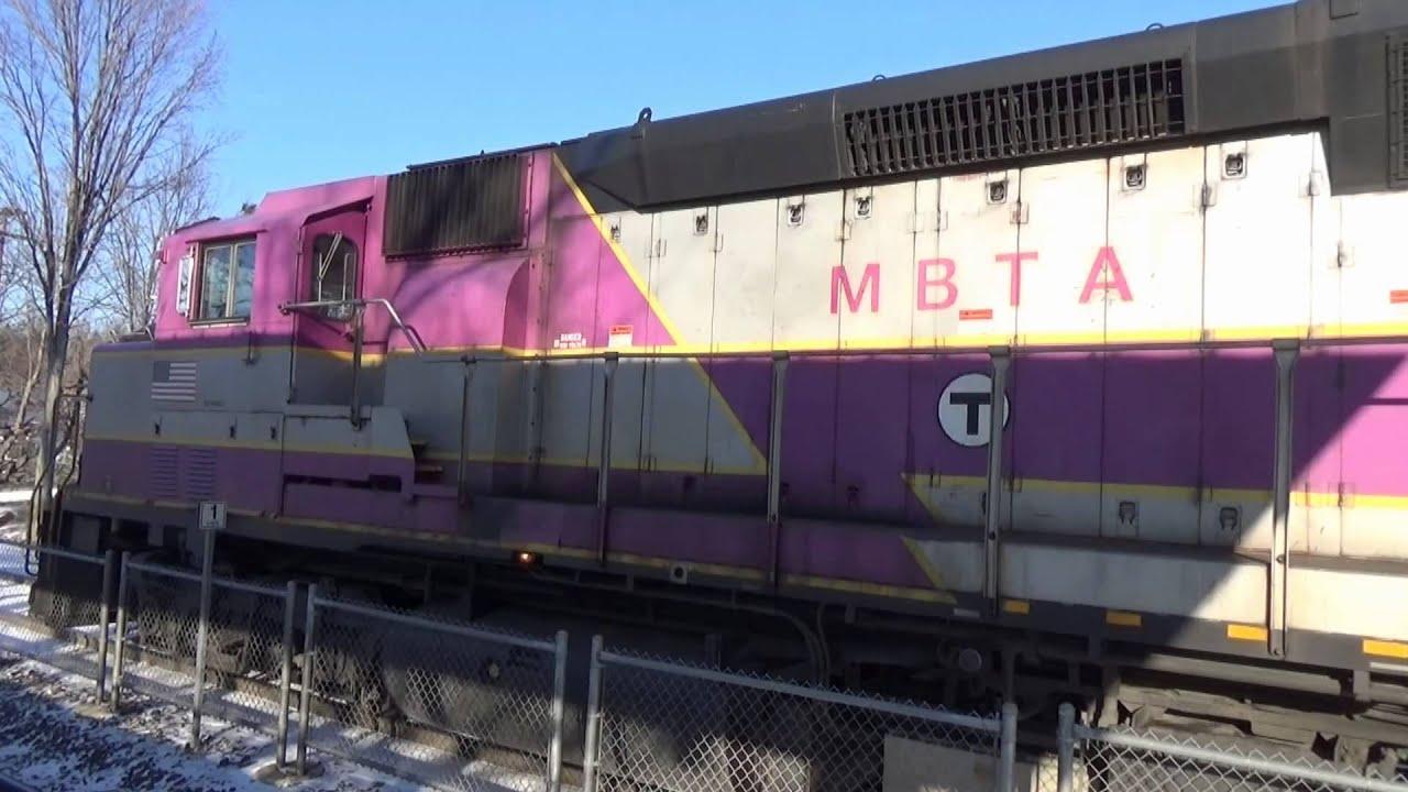 Leominster Mbta Commuter Train 1127 Inbound To Boston