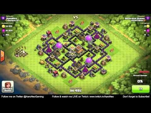BEST Town Hall Level 8 (TH8) Defense Strategy - Clan Wars/Hybrid/Trophy Base (Clash of Clans) Part 2