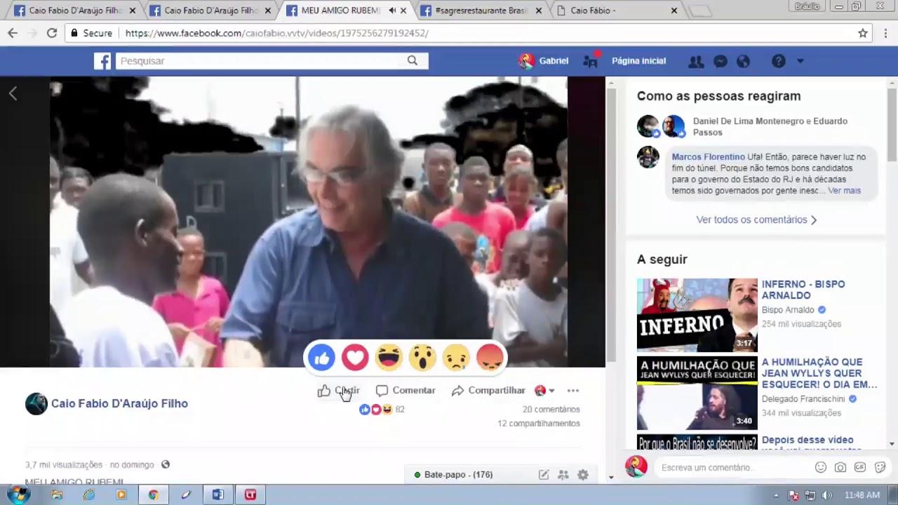 Caio fala do amigo Rubem César Fernandes, candidato a Governador do Rio de Janeiro