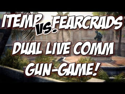 iTemp vs. FearCrads :: Live Gun Game Ep. 1