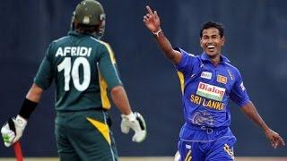 Nuwan Kulasekara Bowls Shahid Afridi with a big inswinger - Sri Lanka vs Pakistan 2009.