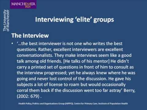 What is..? elite Interviewing