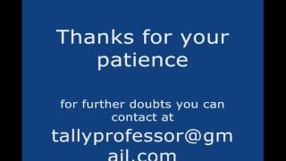Tally erp 9 full tutorial in English