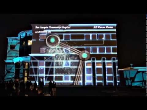 3D Building Projection Mapping & Intelligent Lighting San Joaquin Community Hospital