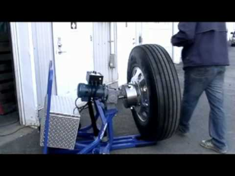 semi truck wheel polishing machine