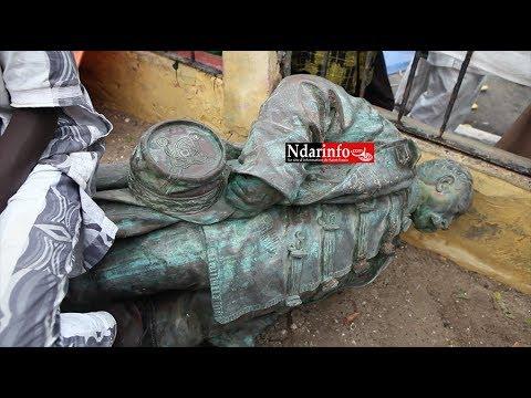 Chute de la statue de Faidherbe
